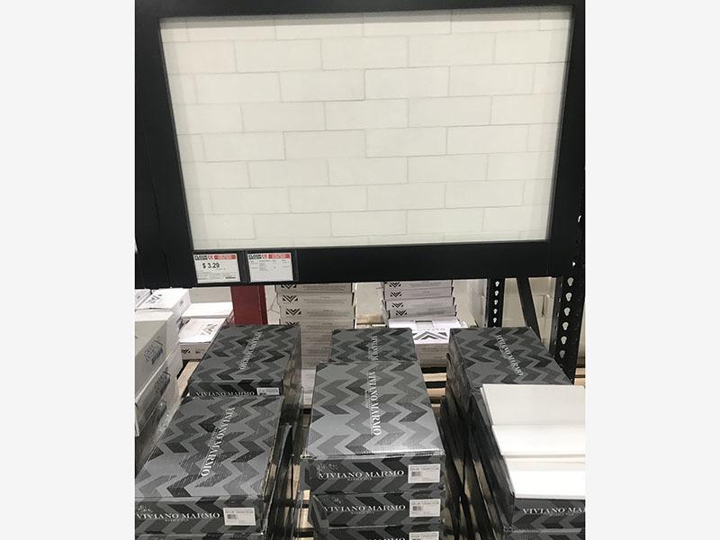 White Thassos tile 76x228x10mm