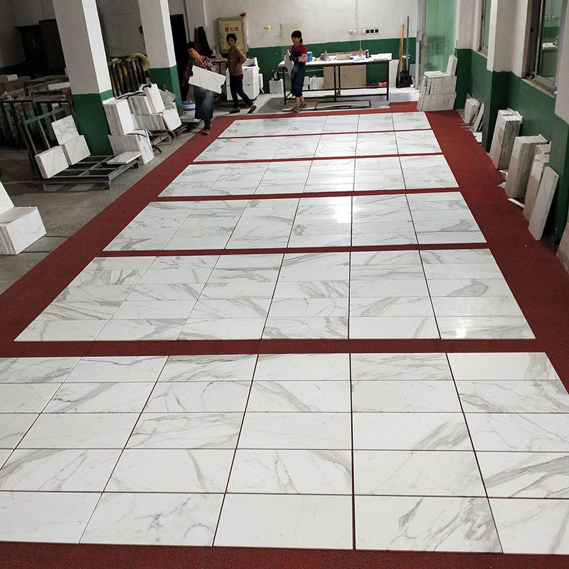 Marble tile 305x305mm ,Calcatta gold