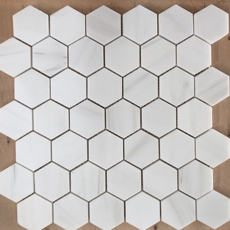 Dolomite white mosaics
