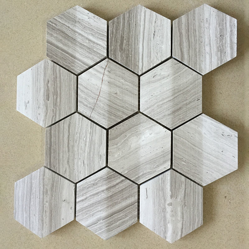 3D mosaics marble hexagon tile
