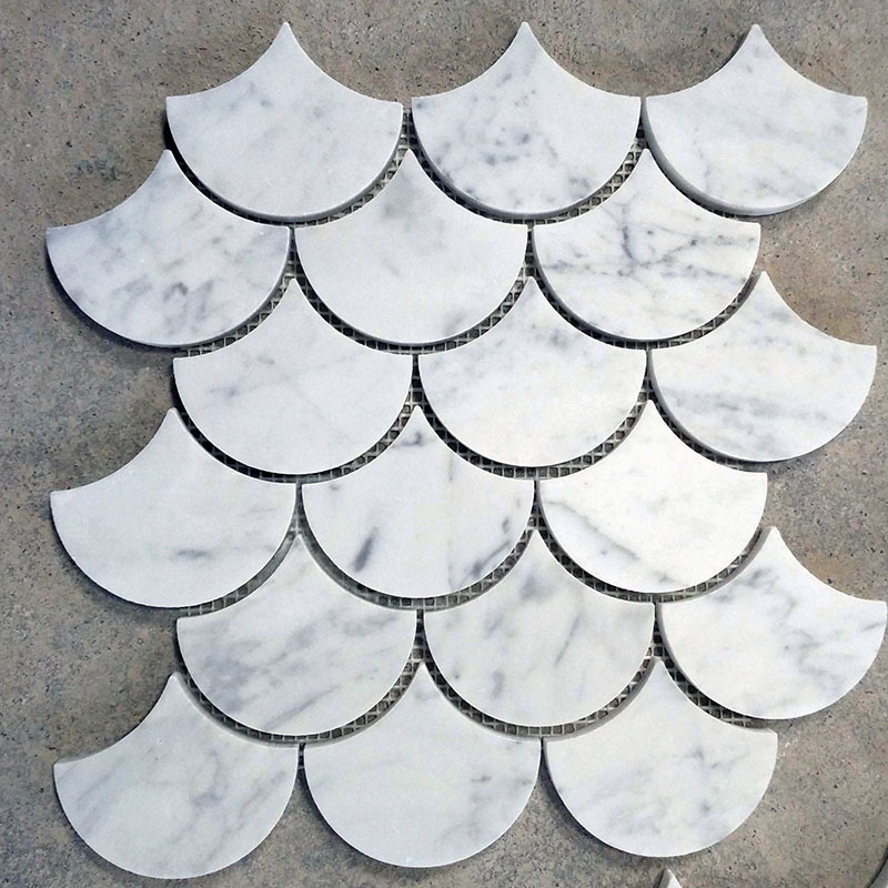 Fan Mosaic/ Fish scale Marble Mosaic tile