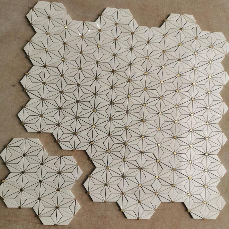 Dolomite marble Geometric mosaic