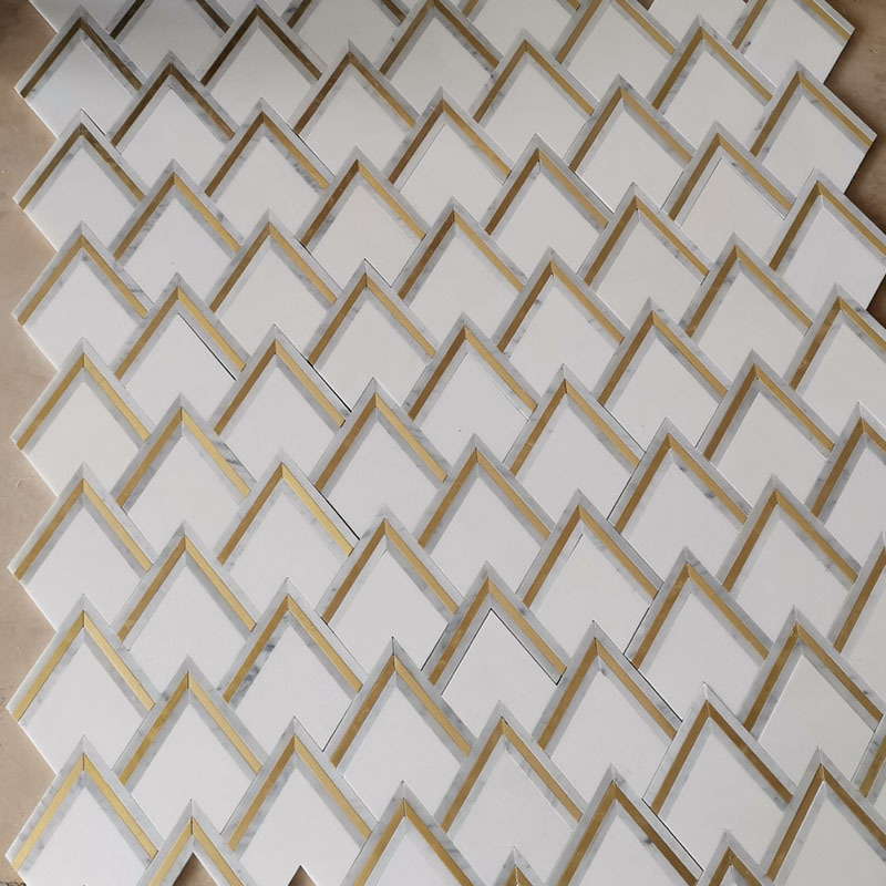 Metal waterjet mosaic tile