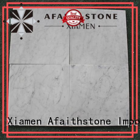 Afaithstone carrara marble tile wholesale for living room