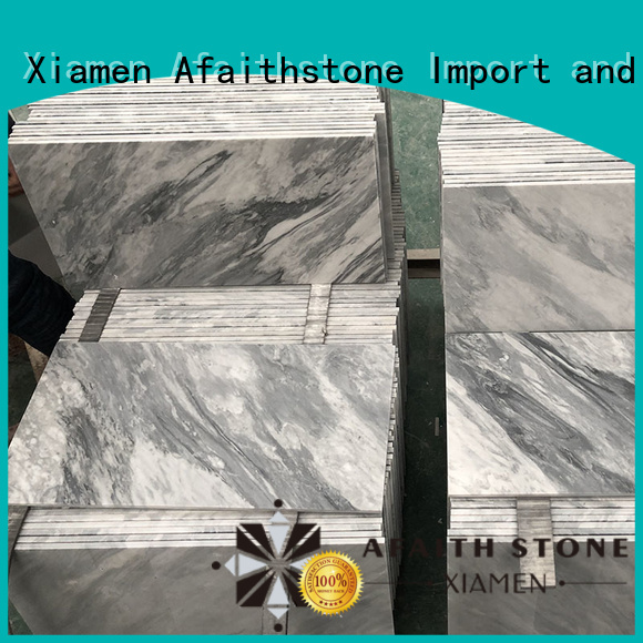 Afaithstone controllable bardiglio marble directly sale for balcony
