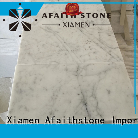 Afaithstone eco-friendly marble tiles personalized for swimming pool