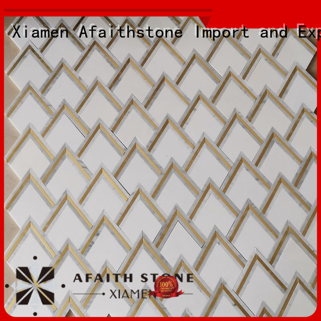 Afaithstone easy to clean thassos white marble manufacturer for living room