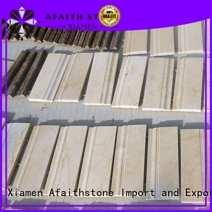 Afaithstone durable baseboard mouldings wholesale for shop