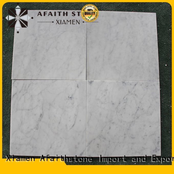 Afaithstone top quality marble tiles factory price for garden