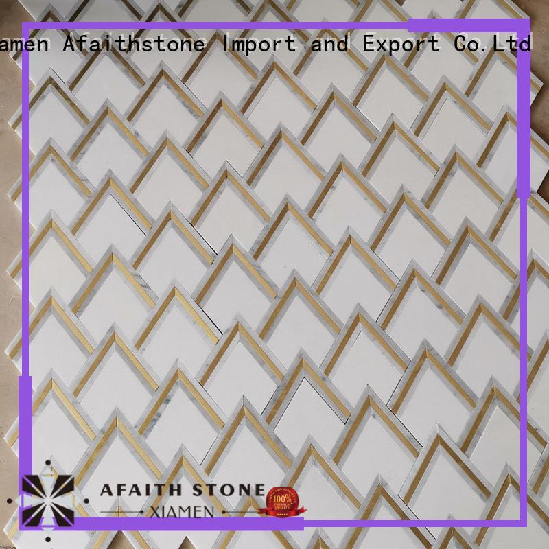 Afaithstone waterjet mosaic tile free sample for Villa