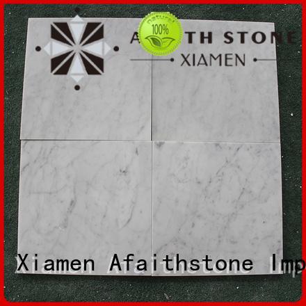 Afaithstone white carrara marble wholesale for living room