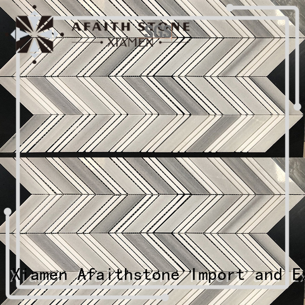 Afaithstone hot selling chevron flooring factory for mall