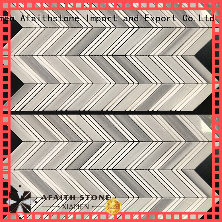 Afaithstone chevron tile design for Villa